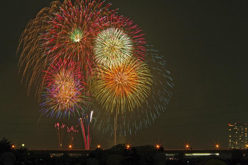 多摩川花火大会とフットサル